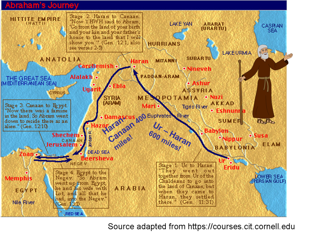 Image result for garden of eden and abraham's journey map""